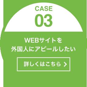[CASE03]WEBサイトを外国人にアピールしたい